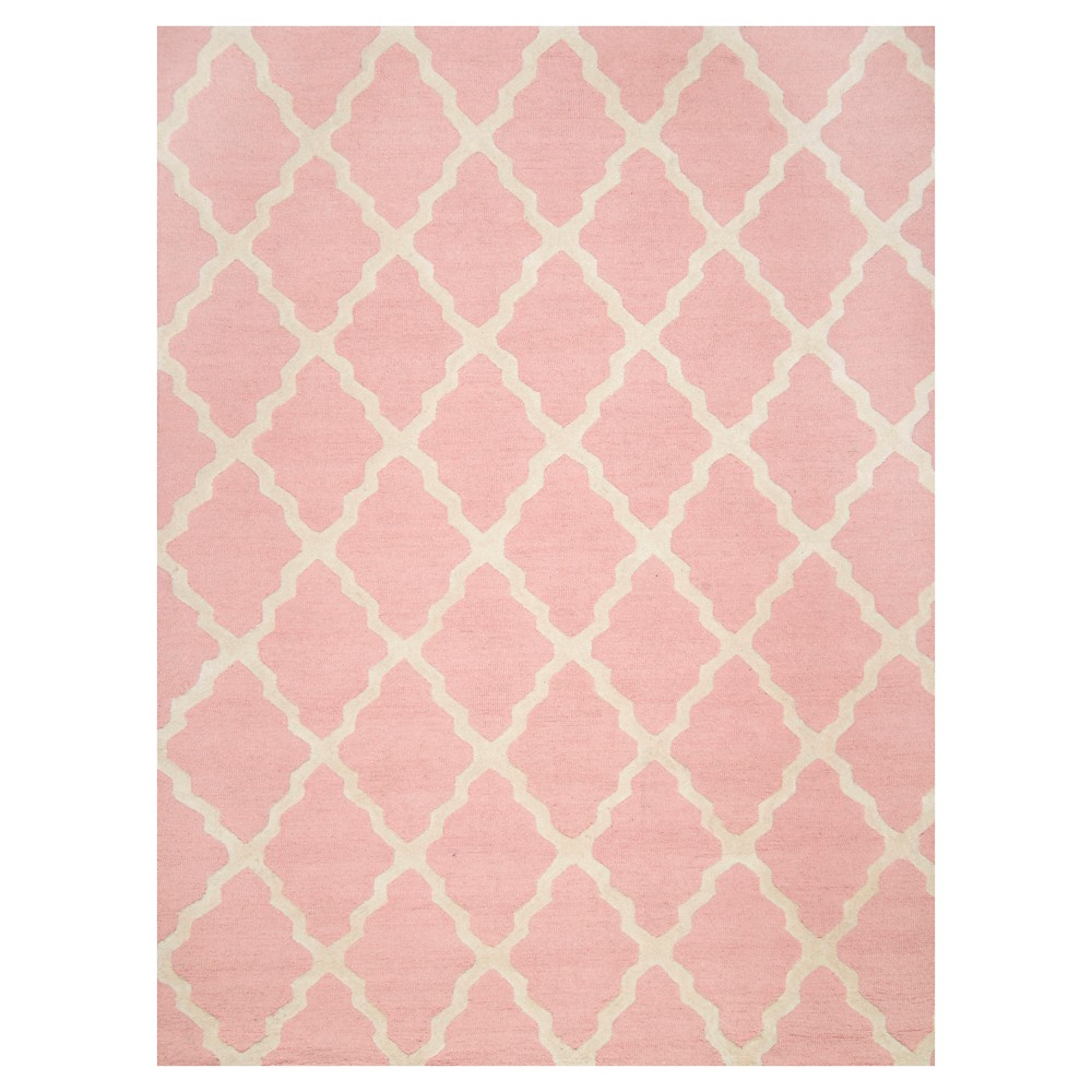 Best Discount Bubble Gum Abstract Hooked Area Rug 5X8 NuLOOM Baby Pink