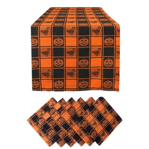 Halloween Woven Check Table Set - Design Imports - image 1 of 4