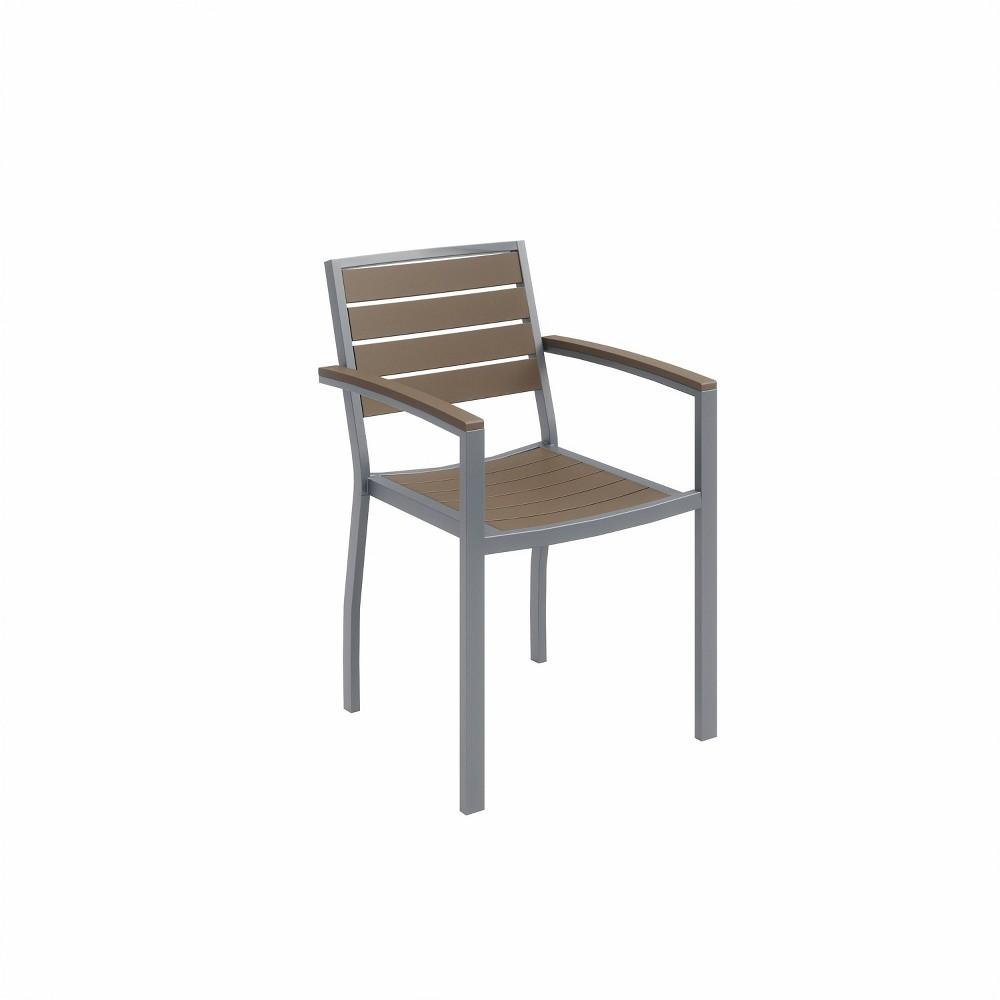 Ivy Patio Arm Chair Silver Mocha Olio Designs
