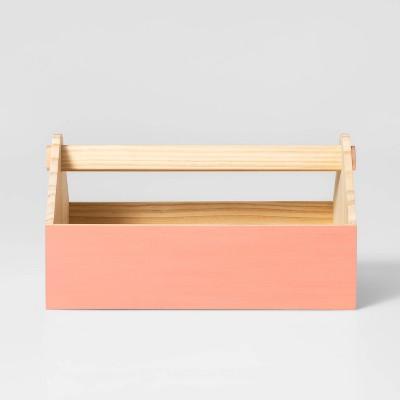 Wood House Caddy Rose Pink - Pillowfort™