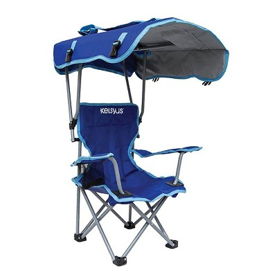 Kelsyus Kids 80316 Original Canopy Folding Backpack Lounge Chair w/ Cup Holder