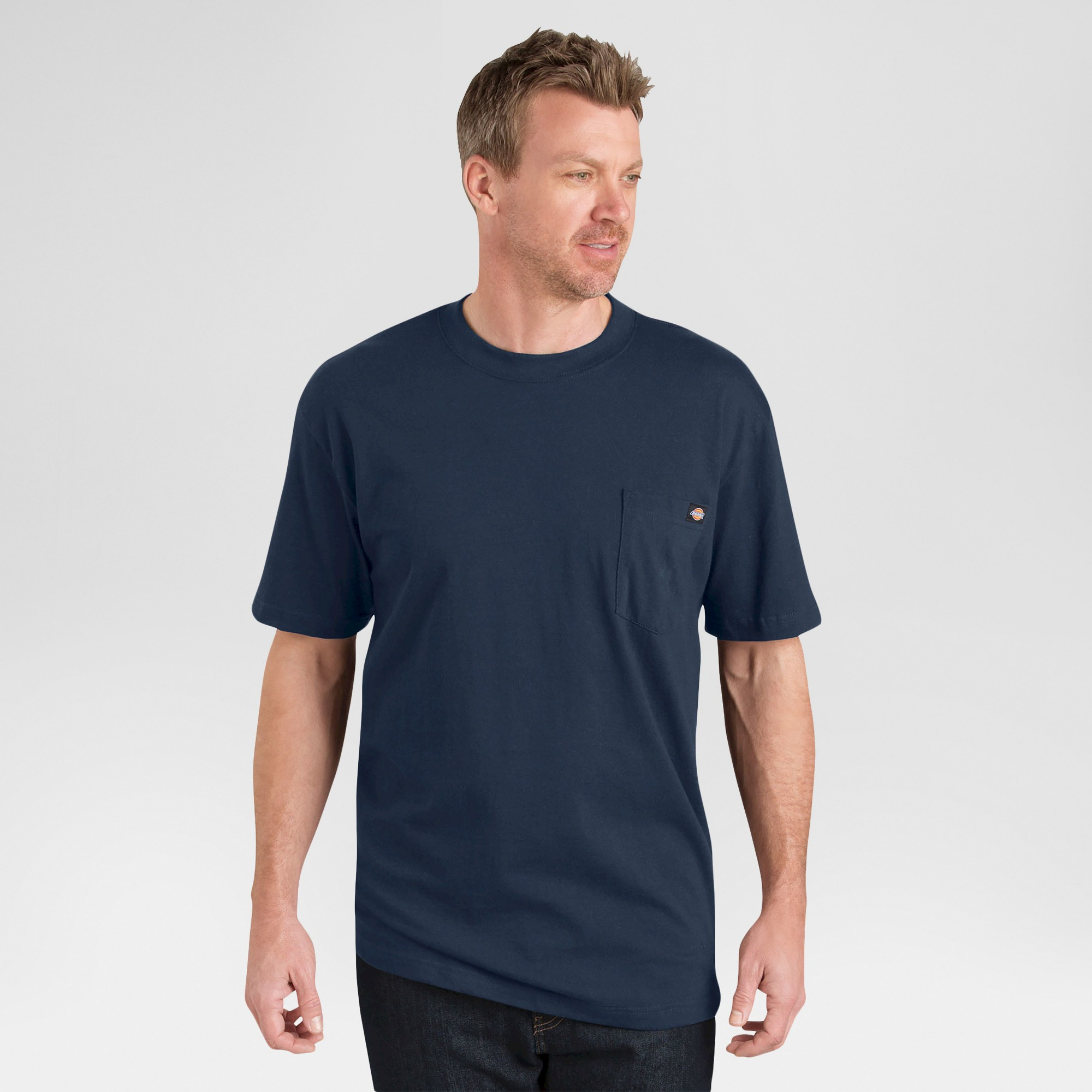 petiteDickies Men's Big & Tall 2 Pack Cotton Short Sleeve Pocket T-Shirt- Navy XXXL, Blue