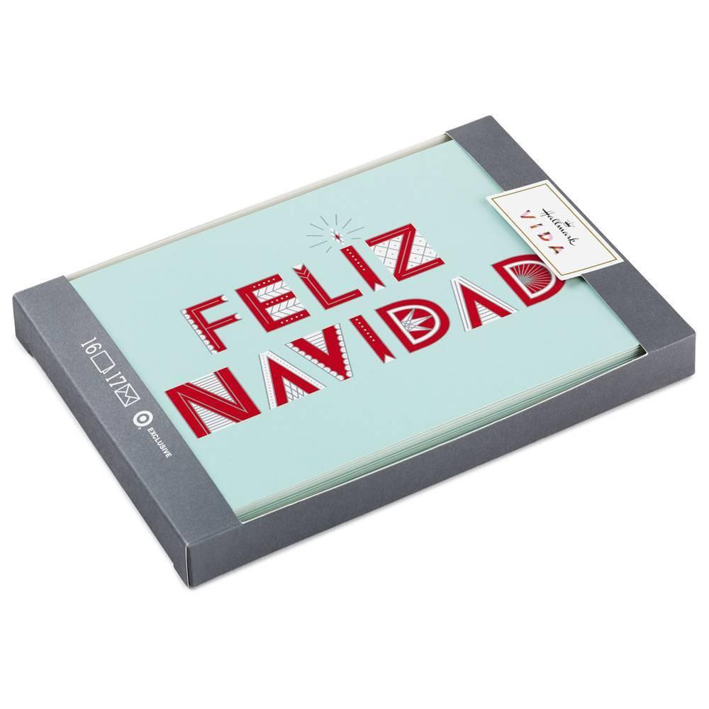 Image of 16ct Hallmark Feliz Navidad Christmas Greeting Cards