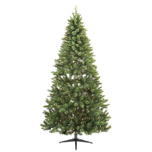 Artifical Christmas Trees.7 5ft Full Pre Lit Artificial Christmas Tree Alberta Spruce Auto Connect Clear Lights Wondershop
