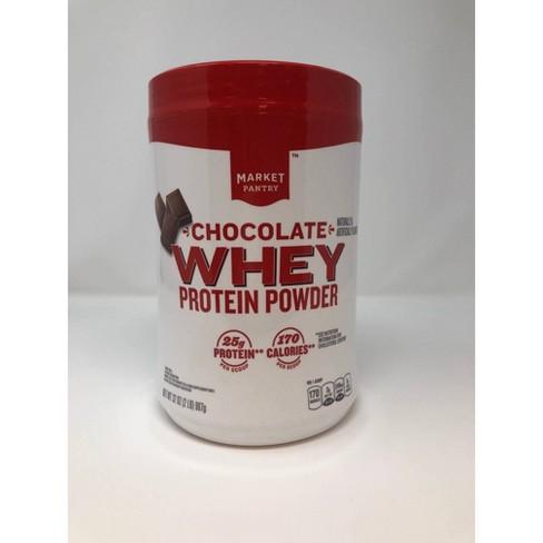 Whey Protein Powder - Chocolate - 32oz - Market Pantry™ - image 1 of 3