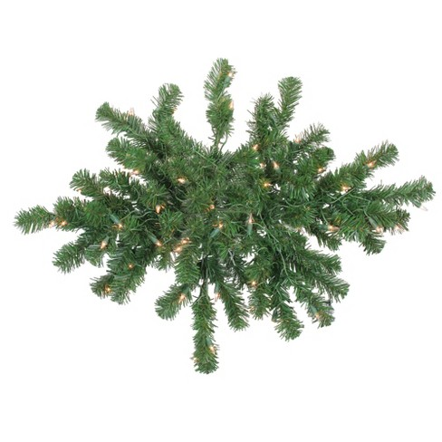 """Northlight 28"""" Prelit Deluxe Windsor Pine Artificial Christmas Swag - Clear Lights - image 1 of 3"""
