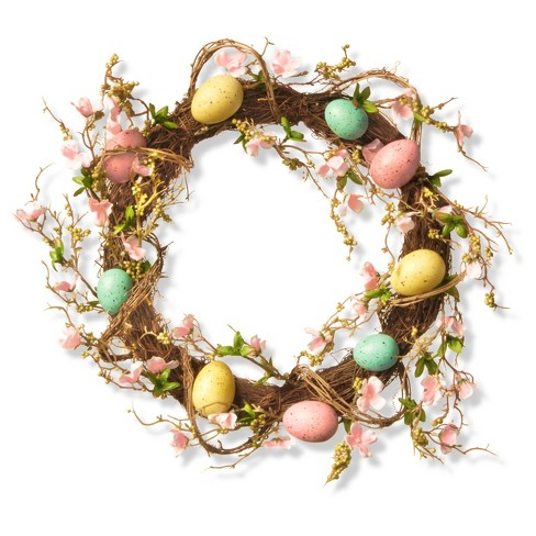 "18"" Easter Egg Wreath - National Tree Company - image 1 of 2"