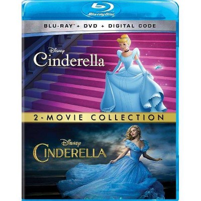 Cinderella Animated + Live Action: 2-Movie Collection (Blu-ray + DVD + Digital)