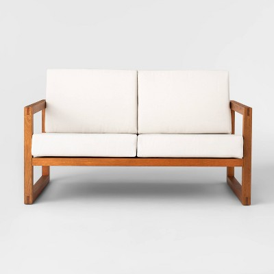 Kaufmann Wood Patio Loveseat - Linen - Project 62™