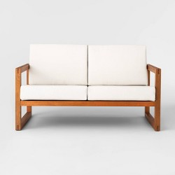 Kaufmann Wood Patio Loveseat - Linen - Project 62™