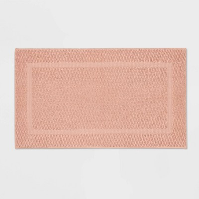 "20""x34"" Performance Texture Cotton Memory Foam Bath Rug Clay - Threshold™"