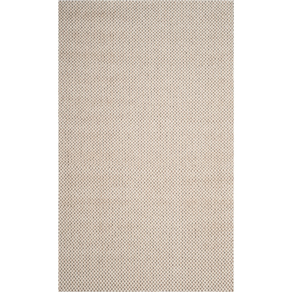 5 X8 Solid Hooked Area Rug Gray Ivory Safavieh