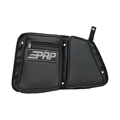 PRP Seats E40-210 Carbon Fiber Passenger and Driver Rear Door Side Storage Bag for Accessories with Knee Protection Pad, Black