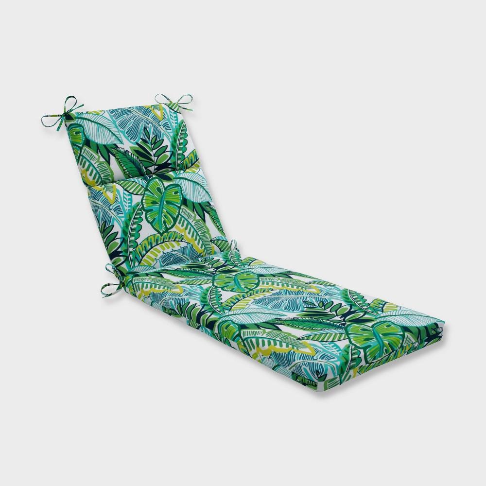 Aruba Jungle Chaise Lounge Outdoor Cushion Blue Pillow Perfect