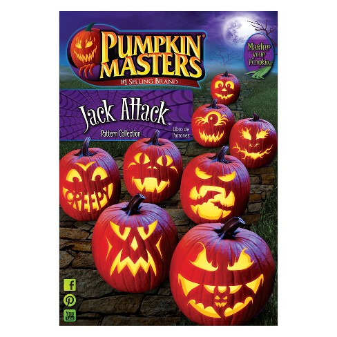 Halloween Pumpkin Masters Jack Attack Carving Pattern Book - image 1 of 1
