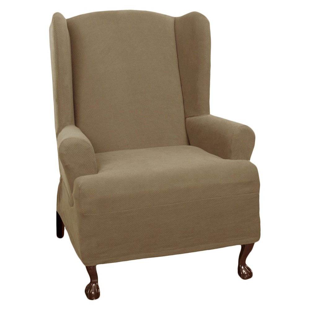 Sand Dune Stretch Pixel Wingchair Slipcover - Maytex
