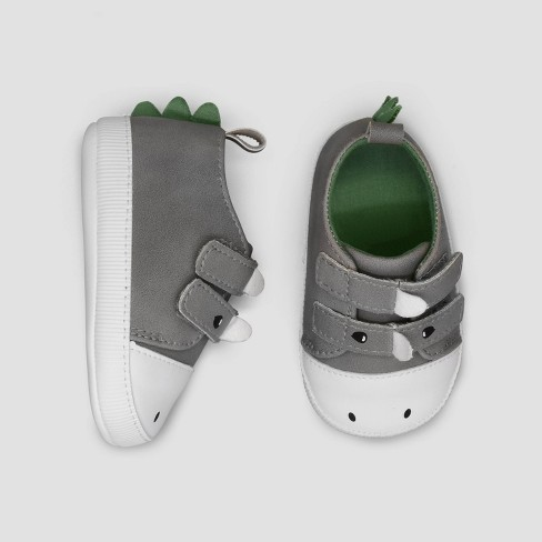 Baby Boys' Dino Sneakers - Just One You® made by carter's Gray 0-3M - image 1 of 1