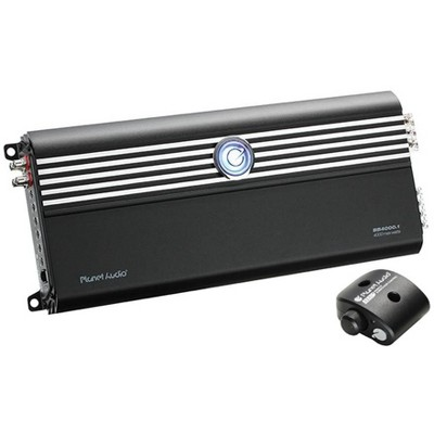 Planet Audio BB4000.1 Big Bange 3 4000-Watt Monoblock Class D 1 Ohm Stable Car Audio Amplifier Power Amp with MOSFET Power Supply and Remote Control