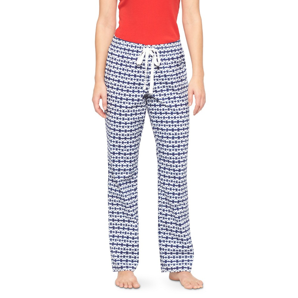 Women's Woven Sleep Pants - Quiet Blue Tile XS Shorts, Size: XS Short
