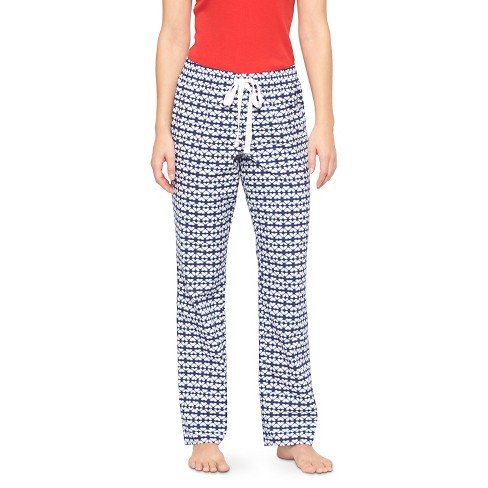 Women's Woven Sleep Pants - Gilligan & O'Malley™ - Quiet Blue Tile L Short - image 1 of 2