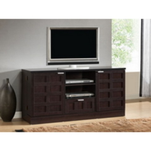 Tosato Modern Tv Stand And Media Cabinet Brown Target
