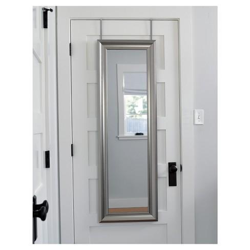 over the door mirror Rectangle Over the Door Mirror Silver   MCS : Target over the door mirror