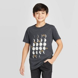 Boys' Glow in the Dark Space Short Sleeve Graphic T-Shirt - Cat & Jack™ Black