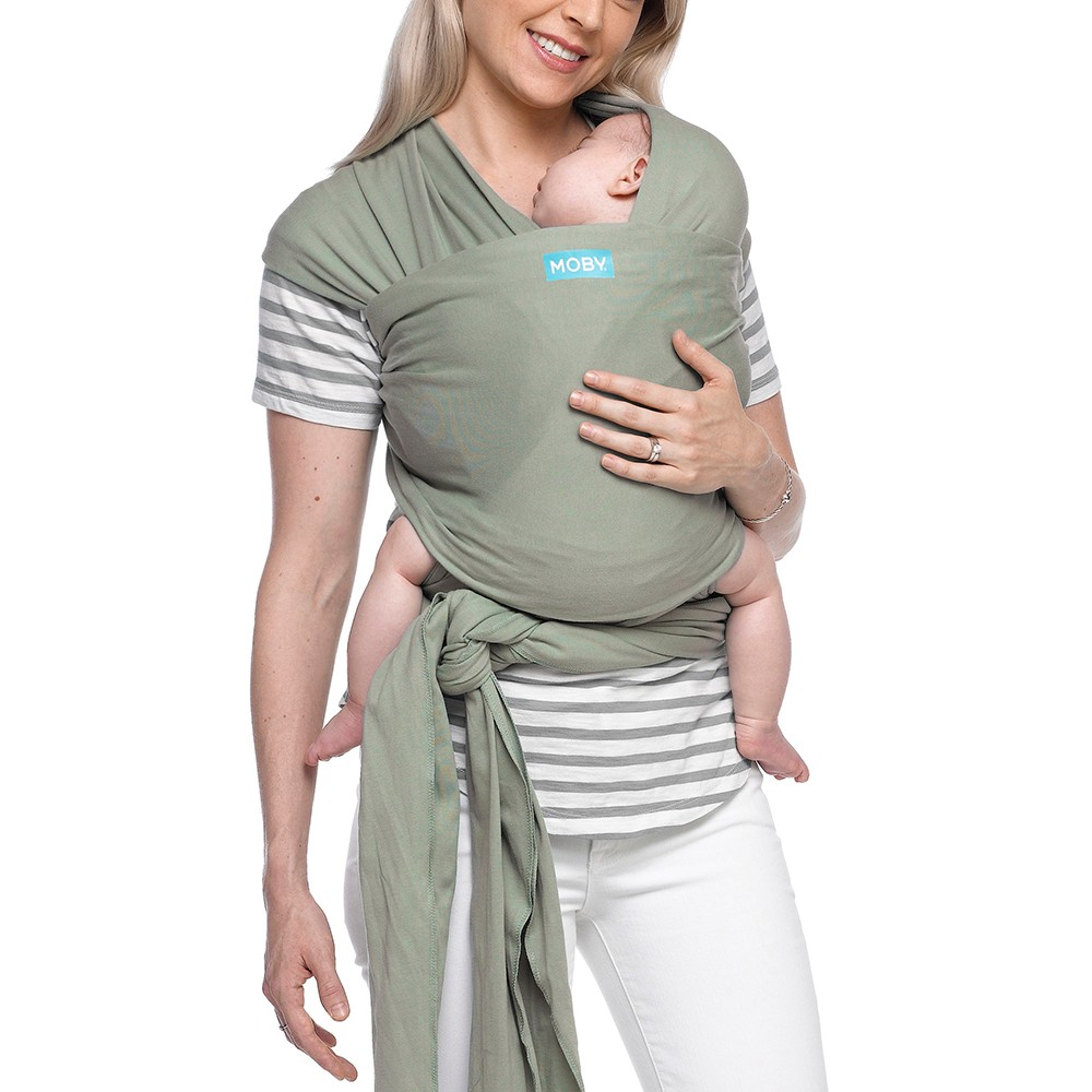 Image of Moby Classic Wrap Baby Carrier - Pear
