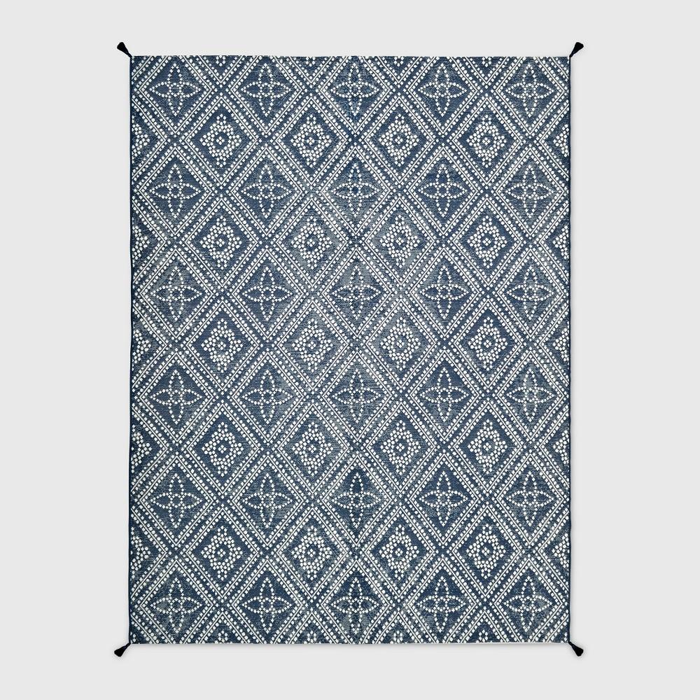 9 X 12 Dot Diamond Outdoor Rug Blue Threshold 8482