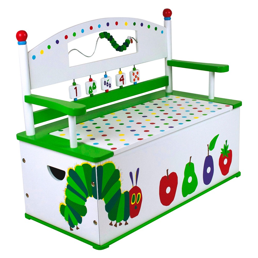 Wildkin Very Hungry Caterpillar Bench Seat with Storage