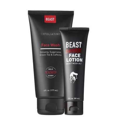Beast Yawp Face Wash + Beast Butter Face Lotion - 9 fl oz
