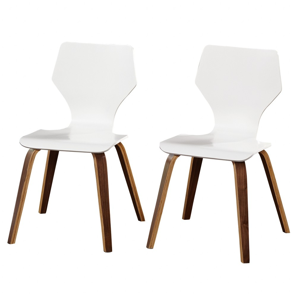 Bari Bentwood Chair (Set of 2) - White - Angelo:Home