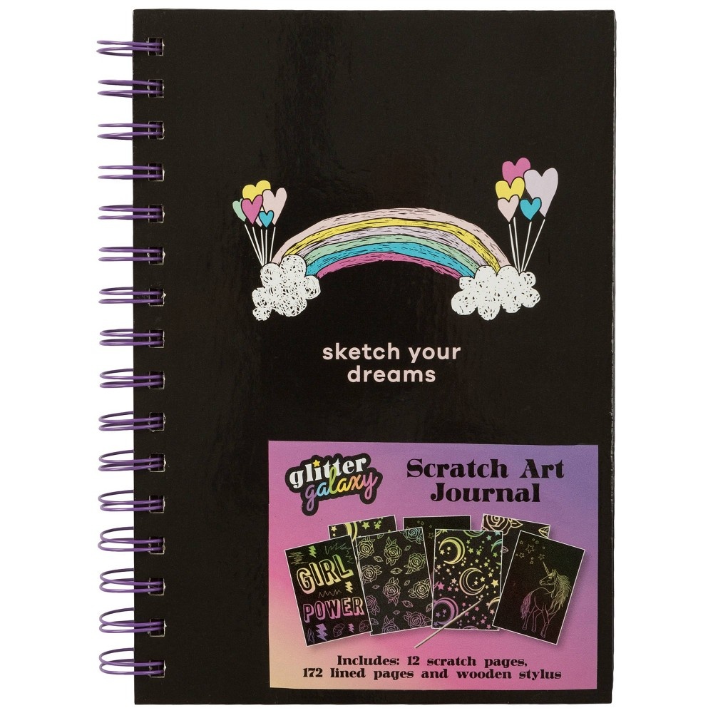 Image of Glitter Galaxy Special Lined Scratch Art Journal - Markings