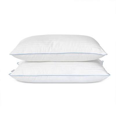 eLuxury Medium Density Hypoallergenic Down Alternative Pillow - 2 Pack