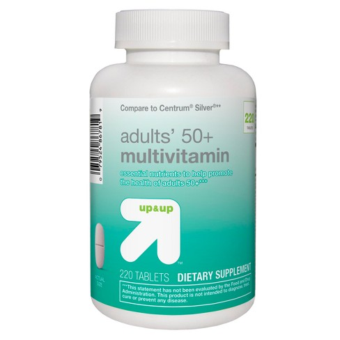Adults 50+ Multivitamin Tablets - 220ct - Up&Up™ - image 1 of 3