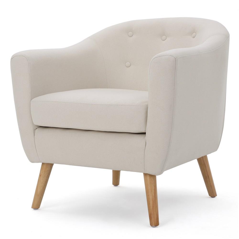 Lorelai Metropolitan Club Chair - Ivory - Christopher Knight Home