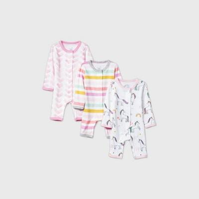 Baby Girls' Unicorn Adventure Nightgown - Cloud Island™ Pink Preemie