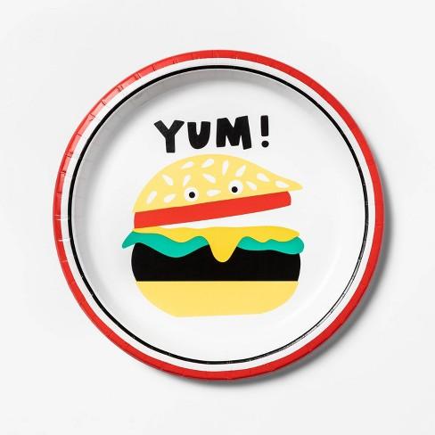 10ct Dinner Plate Yum Hamburger - Sun Squad™ - image 1 of 2