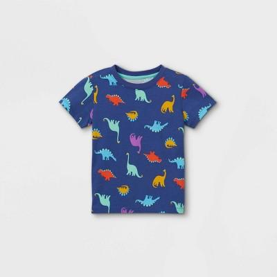 Toddler Boys' Crew Neck Short Sleeve T-Shirt - Cat & Jack™ Violet 18M