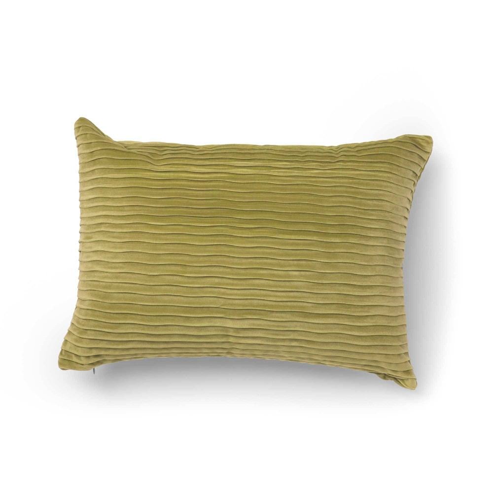"Image of ""14""""x20"""" Oza Velvet Decorative Throw Pillow Lima Bean - SureFit"""
