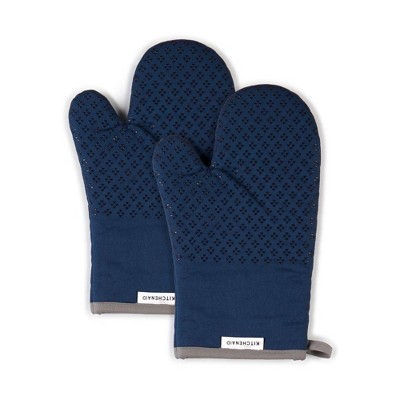 "KitchenAid 2pk 7""X12.5"" Asteroid Oven Mitts Navy"
