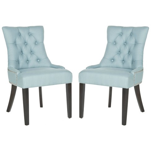 Set of 2 Dining Chairs Light Blue - Safavieh - image 1 of 8