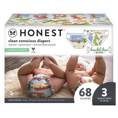 The Honest Company Gone Camping & Desert Vibes Disposable Diapers - Size 3 - 68ct