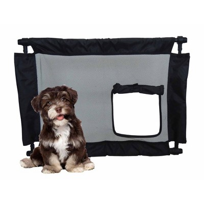 Pet Life Porta-Gate Travel Collapsible and Adjustable Folding Dog Gate - One Size - Black
