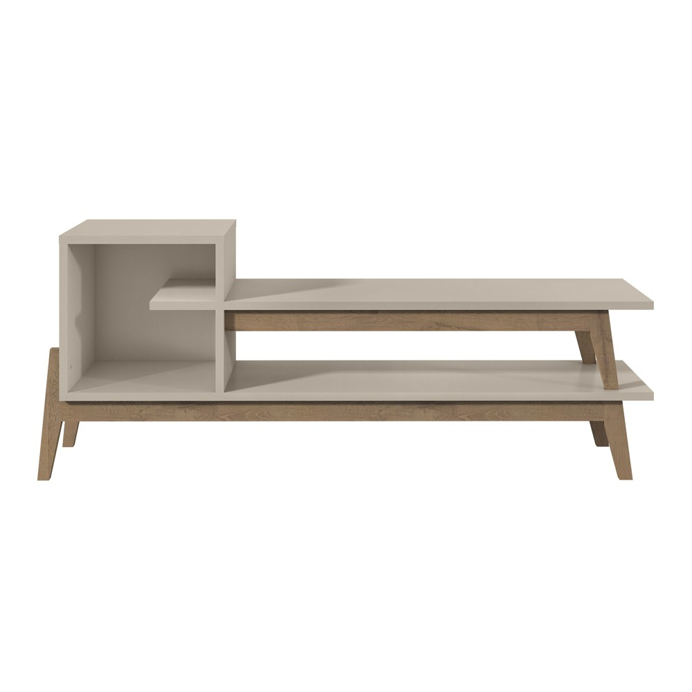 73.82 Essence TV Stand with 2 Shelves Off-White (Beige) - Manhattan Comfort