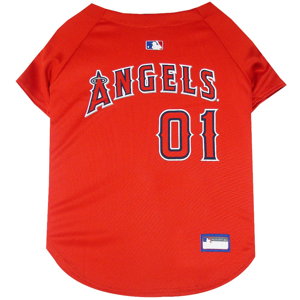 Los Angeles Angels Pets First Pet Baseball Jersey - Red Xxl, Multicolored