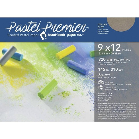 Pastel Premier Sanded Pastel Paper, 9 x 12 Inches, Medium Grit, Italian Clay, 145 lb, 8 Sheets - image 1 of 1