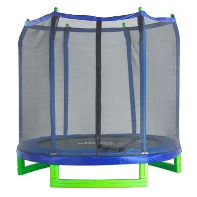 UpperBounce 7' Indoor/Outdoor Classic Trampoline with Enclosure Set