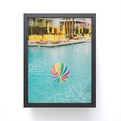 Bethany Young Photography Palm Springs Pool Day Framed Mini Art - Society6