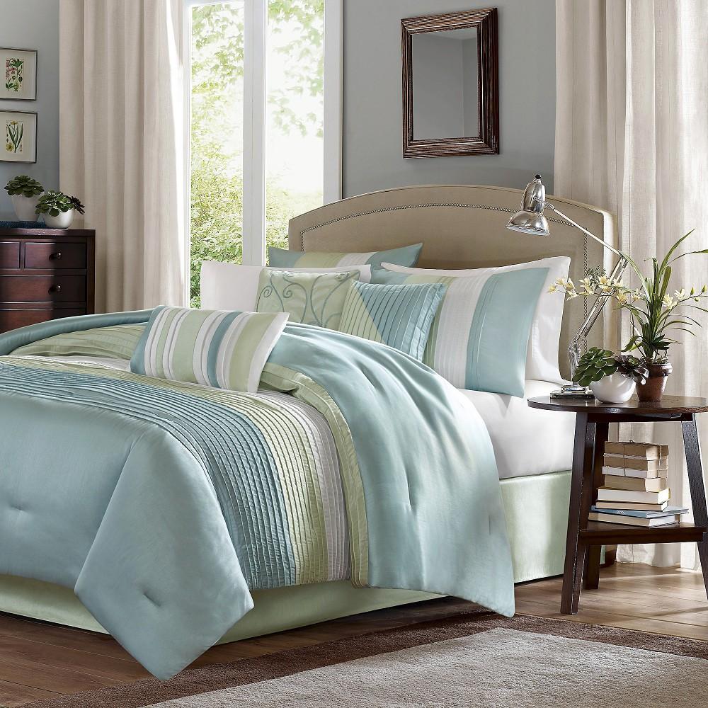 Salem 7 Piece Comforter Set Green King